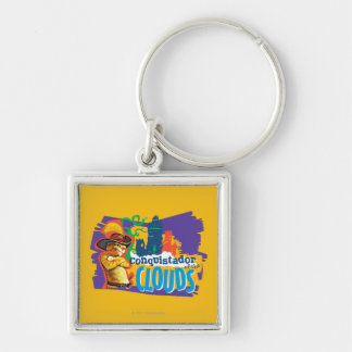 Conquistador of the Clouds Silver-Colored Square Key Ring