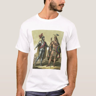 Conquistador with a Native American Chief (colour T-Shirt