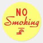 Conrail No Smoking Sign Round Sticker