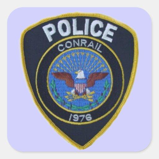 Conrail Railroad Police Patch Square Sticker