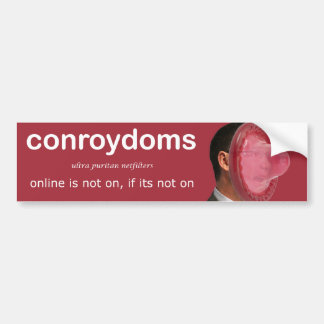 conroydom filters bumper sticker
