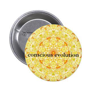 conscious evolution t-shirt 6 cm round badge