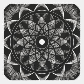 Consciousness - Sacred Geometry Mandala Square Sticker