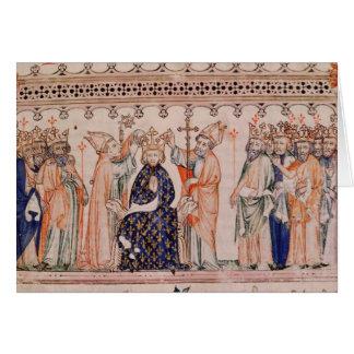 Consecration Philippe III le Hardi King of Card