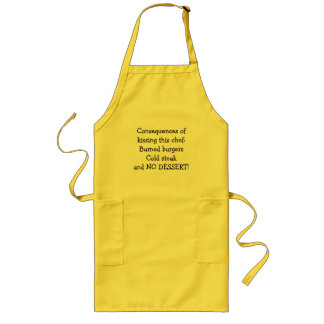 Consequences of kissing this chef! apron