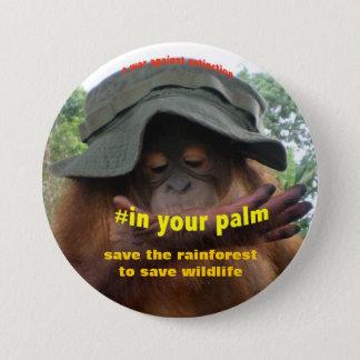 Conservation Activist for Animal Welfare 7.5 Cm Round Badge