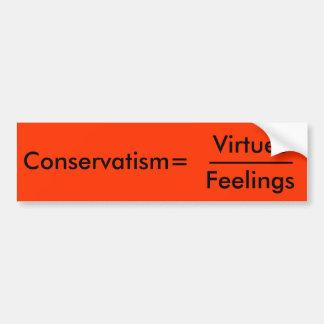 Conservatism= Car Bumper Sticker