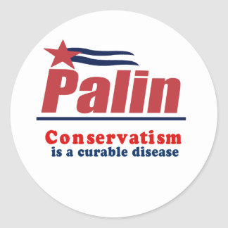 Conservatism is a curable disease sticker