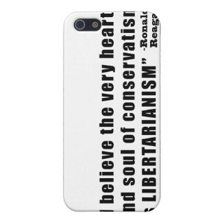 Conservatism Libertarianism Quote by Ronald Reagan iPhone 5 Case