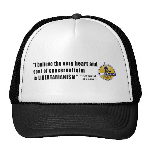 Conservatism Quote by President Ronald Reagan Mesh Hat