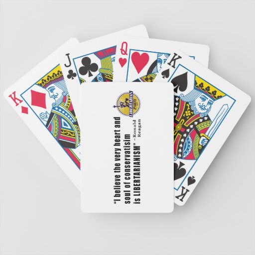 Conservatism Quote by President Ronald Reagan Card Deck