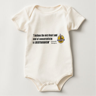 Conservatism Quote by President Ronald Reagan Baby Bodysuit