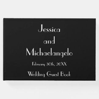Conservative and Elegant Wedding Party Guestbook