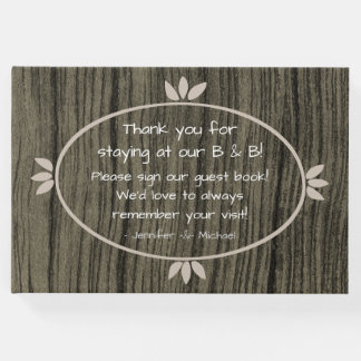 Conservative and Rustic B&B Guest Book
