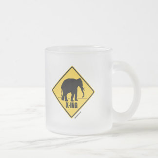 Conservative Crossing Frosted Glass Mug