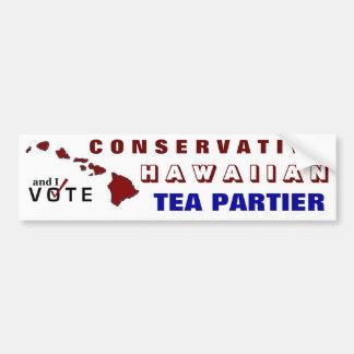 Conservative Hawaiian Tea Partier Bumper Sticker