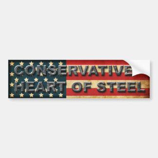 Conservative heart of steel bumper stickers