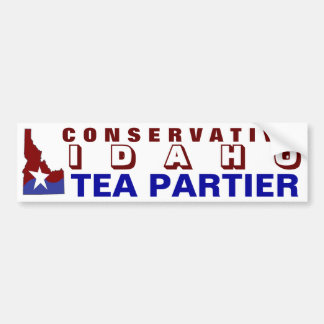 Conservative Idaho Tea Partier Bumper Sticker