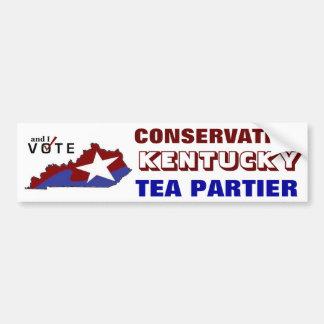 Conservative Kentucky Tea Partier Bumper Sticker