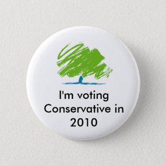 conservative_party_logo, I'm voting Conservativ... 6 Cm Round Badge