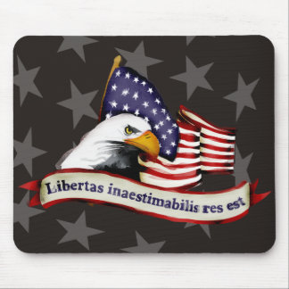 conservative patriotic liberty eagle flag latin mouse pad