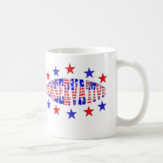 Conservative Red White Blue Mugs Cups Drinkware