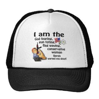 Conservative Woman Mesh Hat
