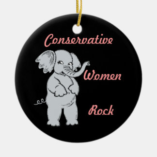 Conservative Women Custom Dated Hanging Ornament