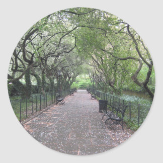 Conservatory Garden Central Park NYC Photography Classic Round Sticker