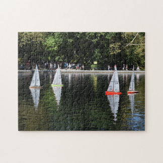 Conservatory Water Central Park Boat Pond New York Jigsaw Puzzle