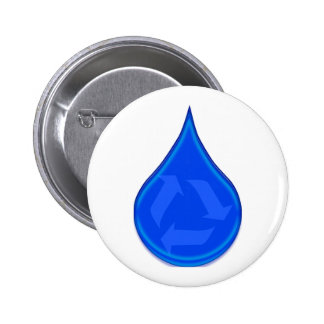 Conserve and Save Water 6 Cm Round Badge