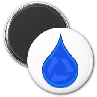 Conserve and Save Water 6 Cm Round Magnet
