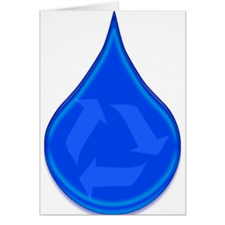Conserve and Save Water Greeting Card
