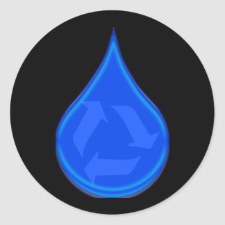 Conserve and Save Water Round Sticker