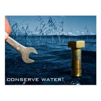 Conserve water postcard
