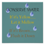 Conserve water print