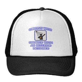 Conserve Water .. Shower With Interior Designer Trucker Hat