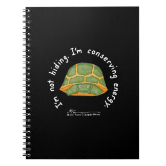 Conserving Energy Black Notebook