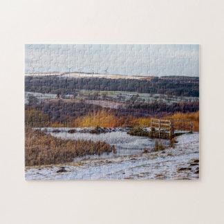 Consett frozen pond jigsaw puzzle