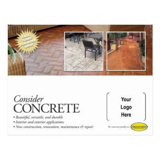 Consider Concrete Mailer for Brickform Contractors Postcard