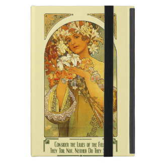 Consider the Lilies of the Field Alphonse Mucha Cover For iPad Mini