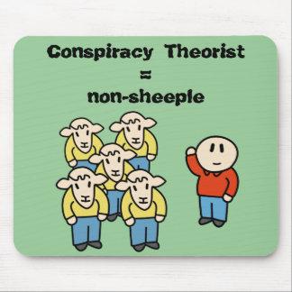 Conspiracy Theorist non-sheeple Mousepads