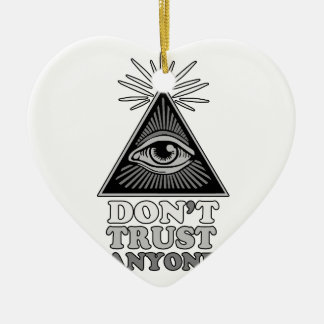 Conspiracy theory ceramic ornament