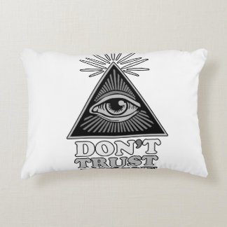 Conspiracy theory decorative cushion