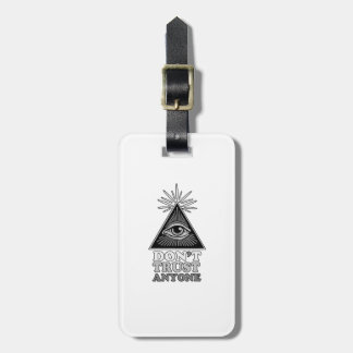 Conspiracy theory luggage tag