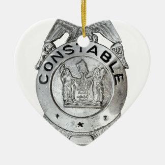 Constable Badge Ceramic Ornament