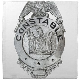 Constable Badge Napkin