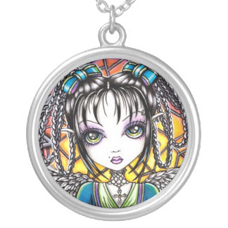 """""""Constance"""" Stained Glass Angel Necklace"""