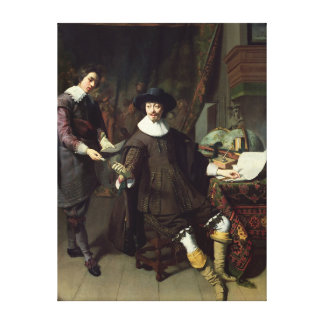 Constantijn Huygens  and his clerk, 1627 Gallery Wrapped Canvas