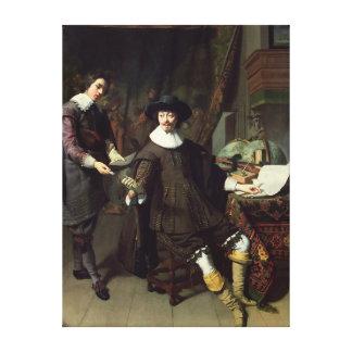 Constantijn Huygens  and his clerk, 1627 Canvas Prints